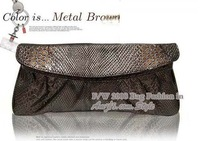 Вечерняя сумка Hot sale! Day clutches! , Evening Bangs, Snake leather, multy color for choosing, 1 pcs, ! TM-017