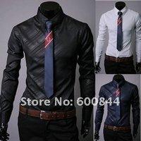 Мужская классическая рубашка 3colors m/xxxl Qy325