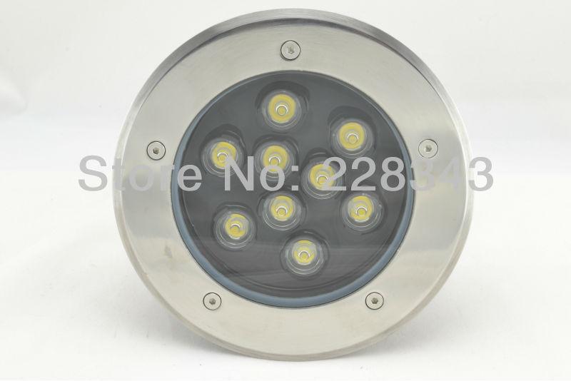 Купить Бесплатная Доставка 85-265 В IP65 RGB Высокой Мощности 9 Вт СВЕТОДИОДНЫЕ Похоронен Свет подземных лампа Подземный Освещения
