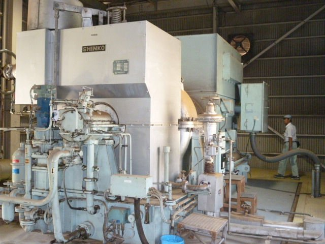 Used steam turbine generator Shinko steam turbine power plant