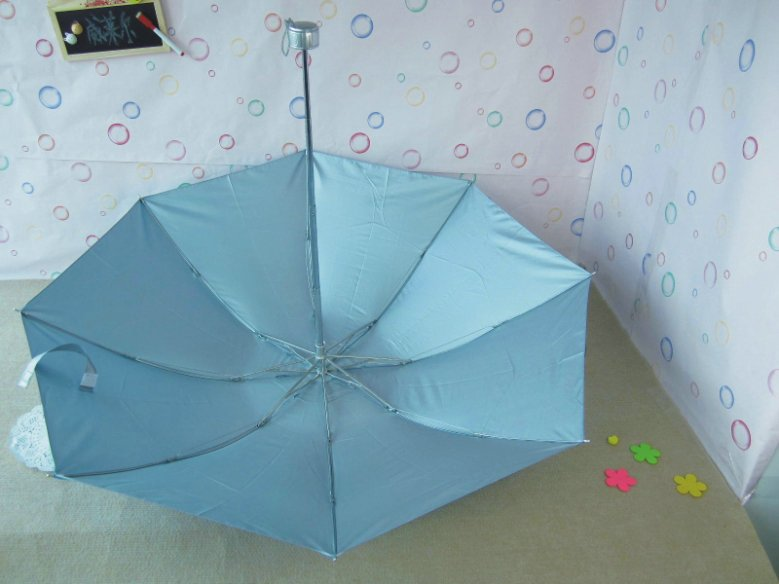 Popular pure color rain or shine umbrella Adult neutral beach portable anti-UV umbrellas 