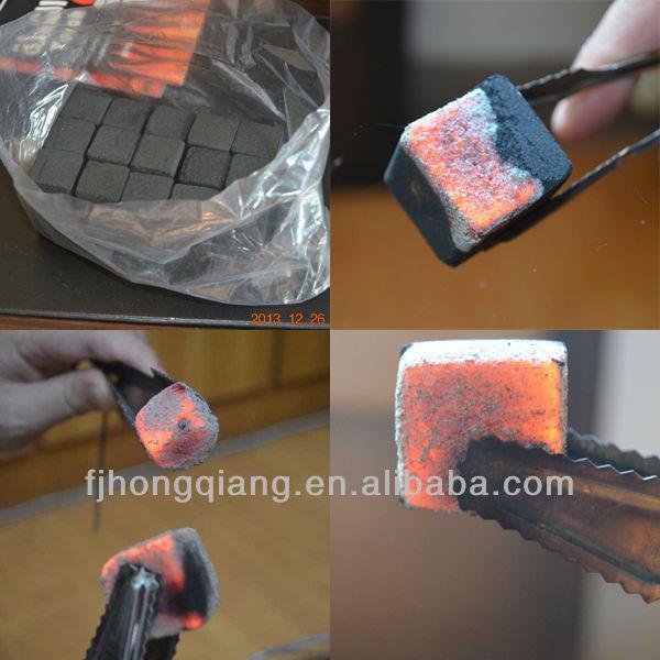 cube charcoal burning