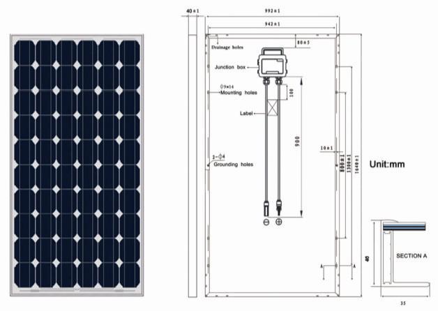 250W,255W,260W Solar panel & panel solar with TUV,IEC,CEC,CE,ISO,INMETRO