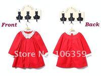 Baby Girls' Dress Kids Long Sleeve Dresses Doll Collar Princess Dress for Girls Christmas/ X Xmas Clothes Wears 5pcs/lot