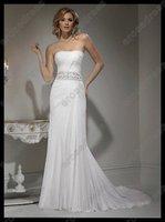 новой возлюбленной без бретелек шифон свадебное платье ms-a011