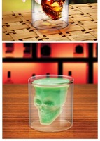 Кружка Cool Crystal Skull Head Vodka Shot Glass Drinking Cup Ware Wine Home Bar Barware