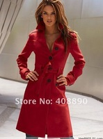 Женская куртка New Women's Coat & Jacket Cashmere Long Special Style Coat Red, Black, Yellow