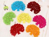 красочный войлок дерево дизайн мультфильм Кубок мат сладкий Кубок колодки coaster Кубок подушка кулинарные инструменты
