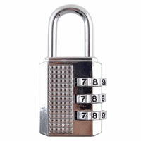 3 Dial Portable Luggage Lock Combination Padlock Silver