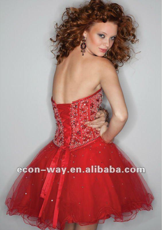 la dernière robe de soirée 2012 courte en cristal perlée sans ...