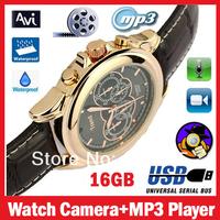 Мини камкордер 16GB watch camera mp3 player Waterproof Sport USB 2.0 Watch Camera HD Cam Video Recorder Hidden Camera DV DVR