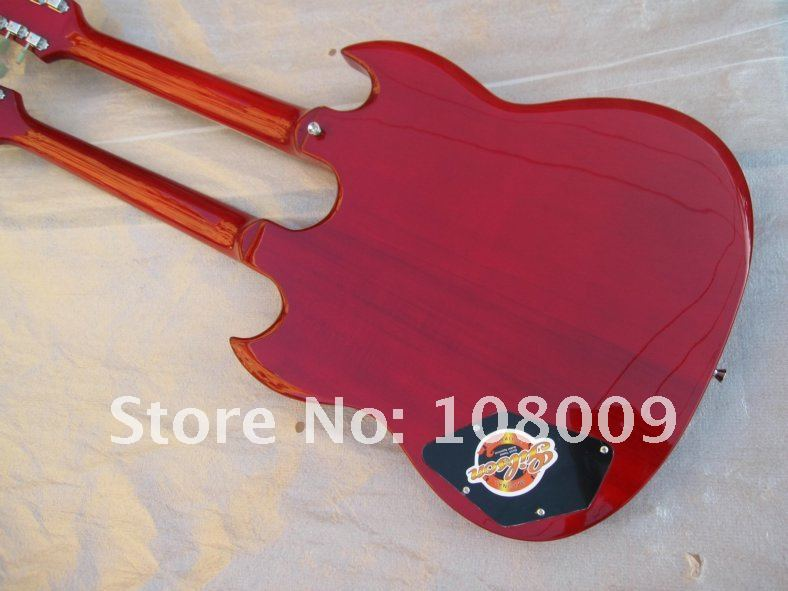 red Double neck1275 Electric Guitar free shipping