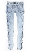 Женские джинсовые леггинсы Classical Vintage Detailed Woman Side Bow Cutout Ripped Denim Sexy Jeans Jeggings W3173