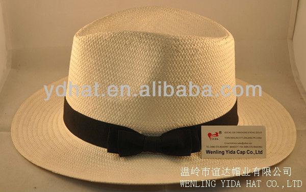 Men's paper straw hat;panama straw hat