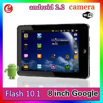 NEW+via 8650+android 2.2+2GB 256MB 800MHZ+WIFI CAMERA FLASH 10.1+USB 3G support+Slim design case