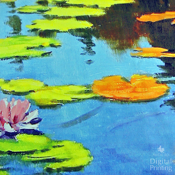 Oil Painting Series Digital Printing Fabric -- Lotus