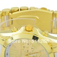 Наручные часы Sell Women Watches, GENEVA Watches, Stainless Steel Strap Dress Wristwatches, Free Drop shipping