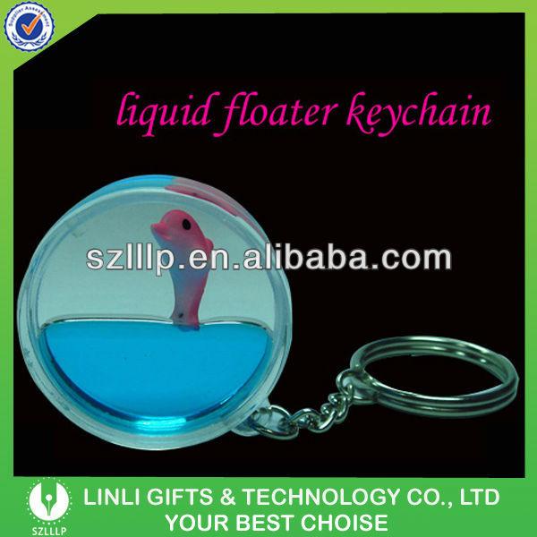 Liquid Filled Logo Promotional Key Chain