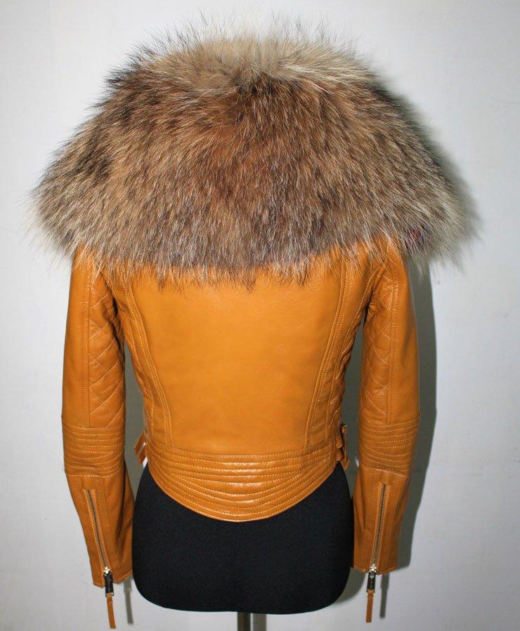 Grune Farbe Fur Körper : frauen super große Luxus echter pelz kragen aus echtem naturleder