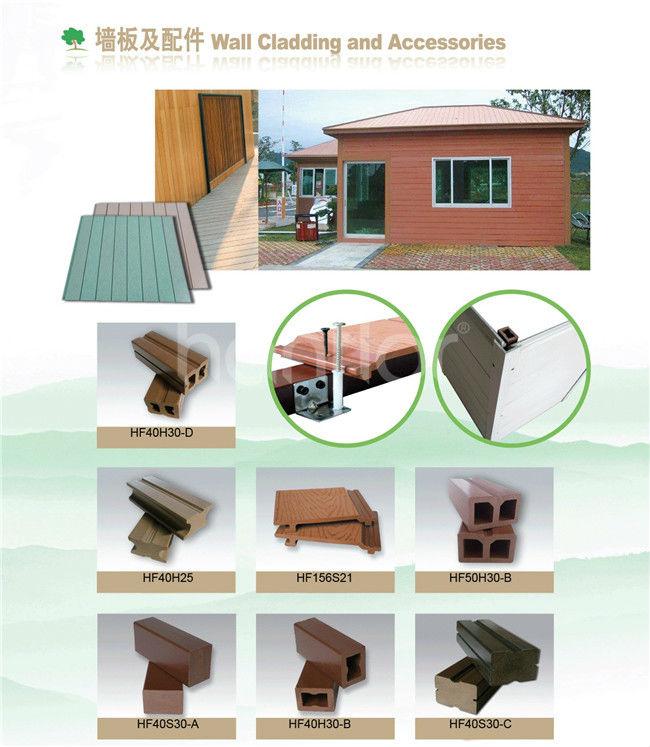 Bois plastique composite plancher ajourées