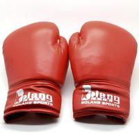 Боксерские перчатки New 1 Pair PU Leather Red Adult Sanda Gloves Boxing Kickboxing Training Gloves 6579