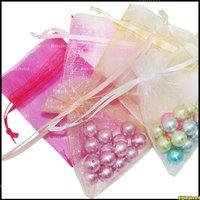 100 шт органзы ювелирные изделия свадебные подарок сумка сумки 7x9cm /3 x 4 дюйма