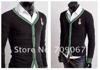 Мужской кардиган 2012 NEW Style Men's Cardigan Mens Slim Luxury Premium Stylish Single Layered Cardiga sweater M- L-XL-XXL
