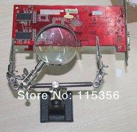 Держатель электрода BEST-168Z hands help soldering PCB stand holder jig with 5x Magnifier
