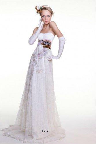 Beautiful purple and white wedding dresses