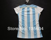 Women's World Cup 2014 Argentina national team home short-sleeved shirts, printed free number