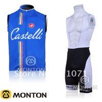 2011 Кастелли синий жилет короткий нагрудник Костюм велосипедный / Велоспорт Джерси /bike Джерси нагрудник короткий