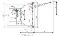 FL:100 мм, сканировать area70 * 70 ЯГ полупроводниковых волокна гальво f-theta сканирования система линз для лазерной маркировки машина, sl-1064-f100 - 70 * 70