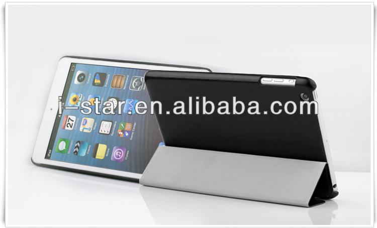 for ipad accessory, premium PU leather mini case for ipad mini made in china-black