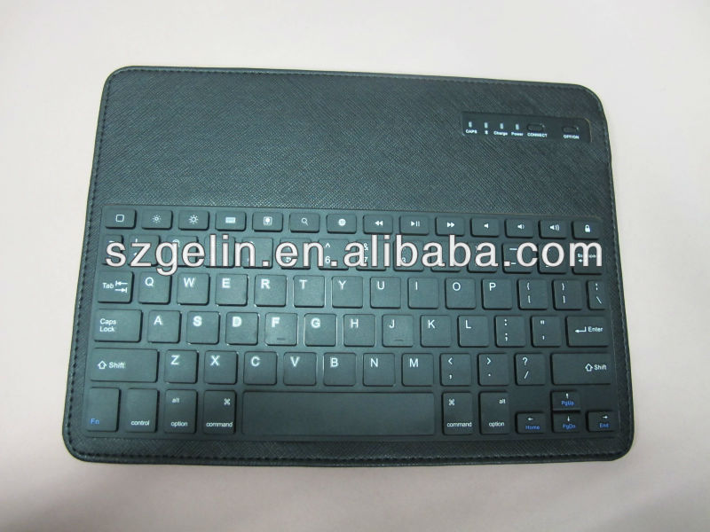 new customized extend cover name card bag leather case with magnetic bluetooth keyboard for new ipad