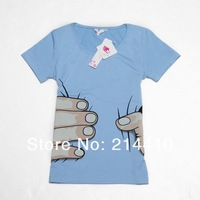 Мужская футболка 5 colors big Hand t shirt! Man/women clothes Printing Hot 3D visual creative personality spoof grab your cotton