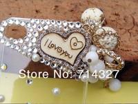 высокое качество ручной работы цветок bling алмазов кристалл чехол для iphone 4 4 g 4s