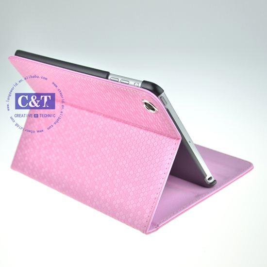 PU for ipad mini stand leather case
