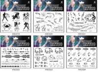 2шт /lot водонепроницаемый татуировки наклейки кошка английских букв солнце тотемы татуировки наклейки в пункте факультативного пятиконечная звезда