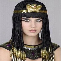 Парик hot Cosplay/party/Halloween/Christmas wigs Cleopatra wigs neat bangs, /retail