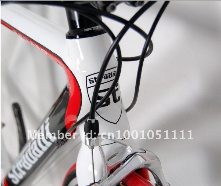 RED PRO CARBON ROAD BIKE HED BICYCLE 50