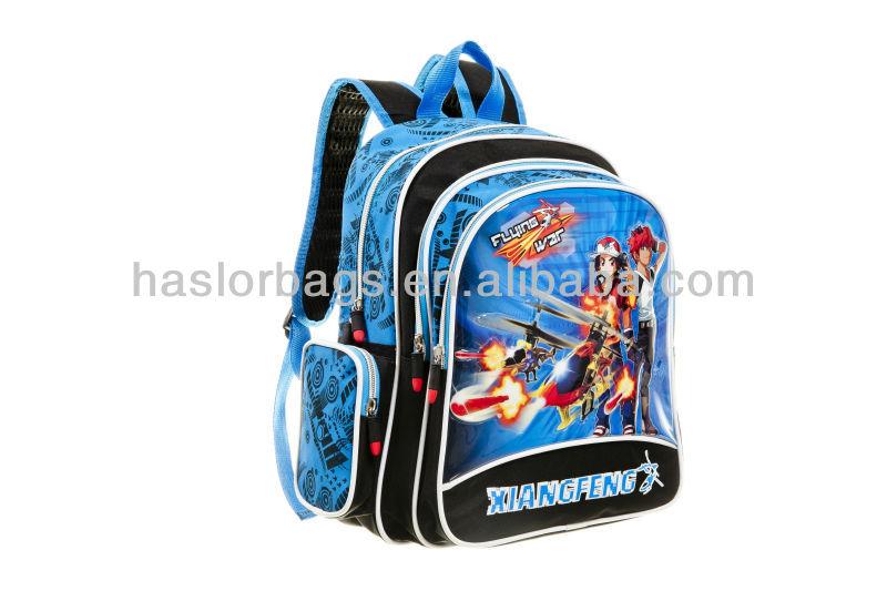 Gros personnage de dessin animé sac d'école des enfants Backpackn pour garçons en Quanzhou