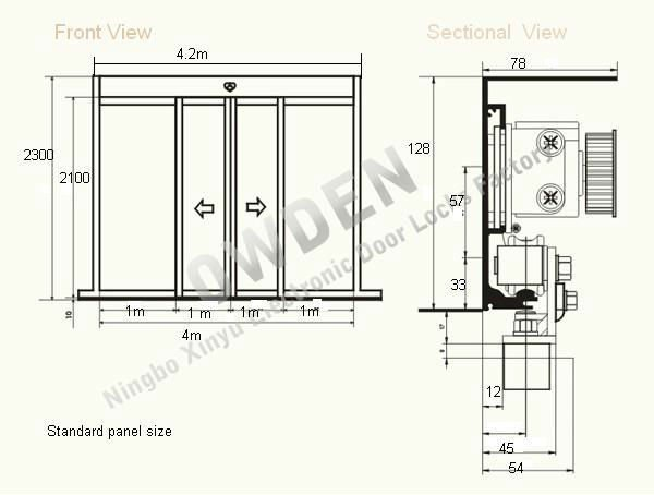 Automatic sliding glass door - Automatic Sliding Door System With Photocell Safety View