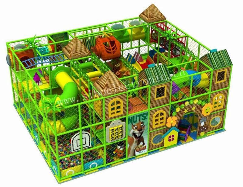 GM070319B Indoor two floor playground equipment in guangzhou