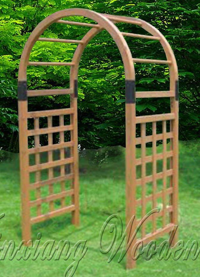 En bois jardin arbor cl tures treillis et portails id de for Porte bois exterieur jardin