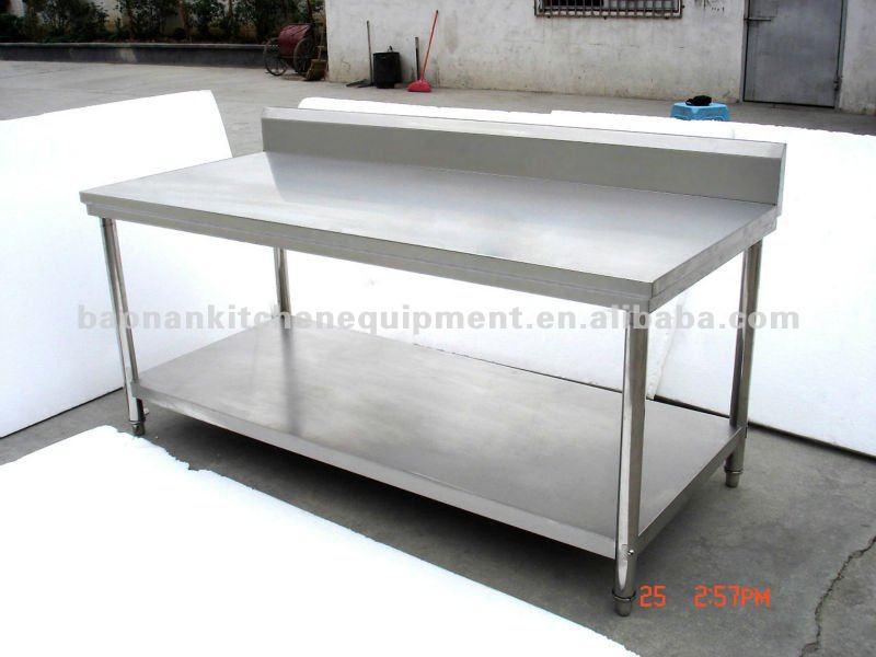 Acero inoxidable comercial mesa de trabajo cocina otros - Mesa de trabajo cocina ...