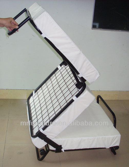 hot vente m tal cadre lit pliant pour pouf lit avec k d. Black Bedroom Furniture Sets. Home Design Ideas