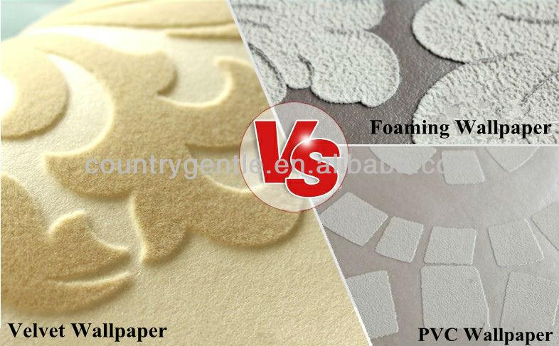 wallpaper, PVC wallpaper, velvet wallpaper