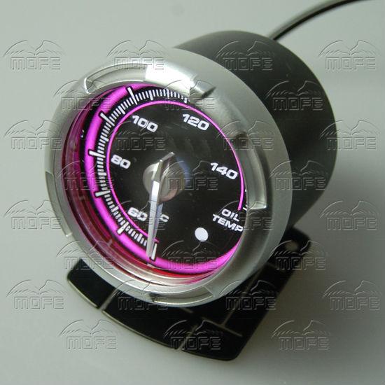 60MM Pink Blue LED Backlight Sensor + Stepping Motor Defi ADVANCE C2 Oil Temperature Temp Gauge Meter DSC_0348