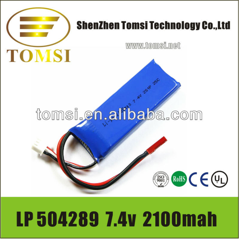 Mobile TV 7.4V 2500mAh Lithium Polymer-6037110 rechargeable battery pack