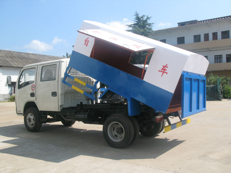 4x2 Dongfeng famous van garbage truck